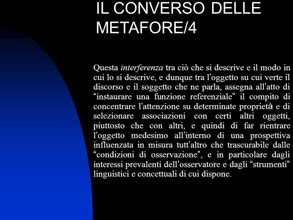IL CONVERSO DELLE METAFORE/4