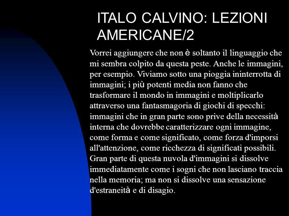 ITALO CALVINO: LEZIONI AMERICANE/2
