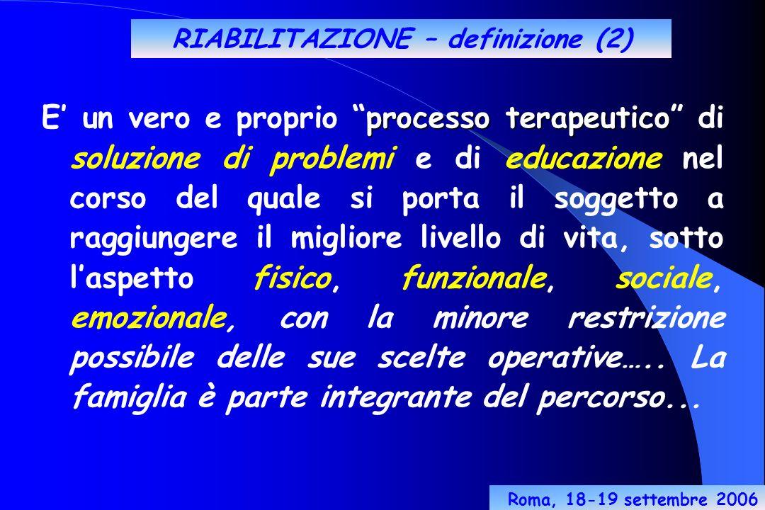 RIABILITAZIONE – definizione (2)