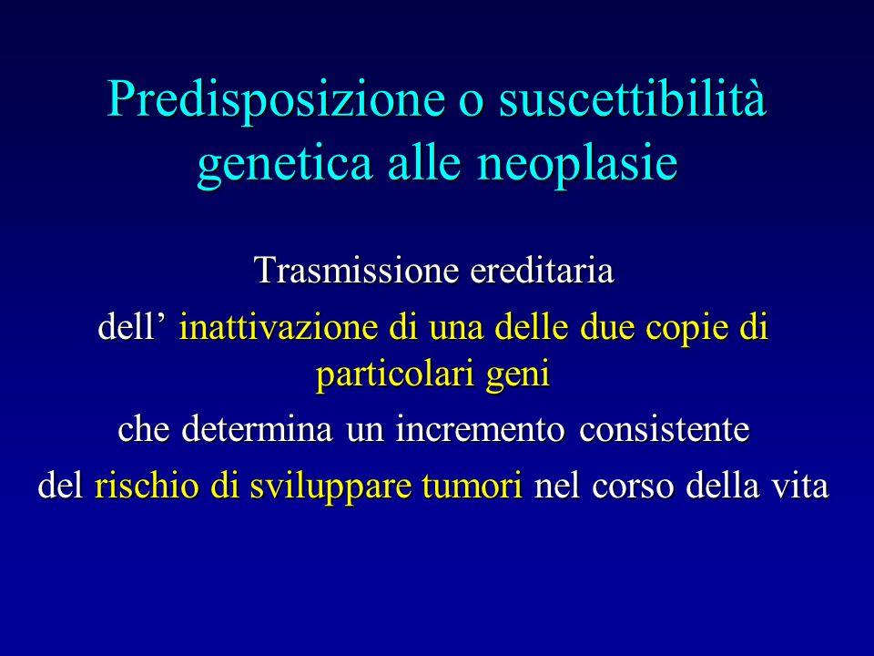 Predisposizione o suscettibilità genetica alle neoplasie
