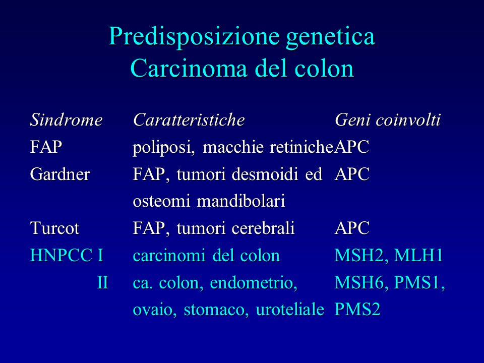 Predisposizione genetica Carcinoma del colon