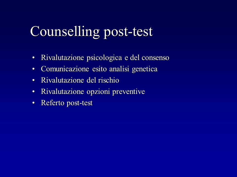 Counselling post-test
