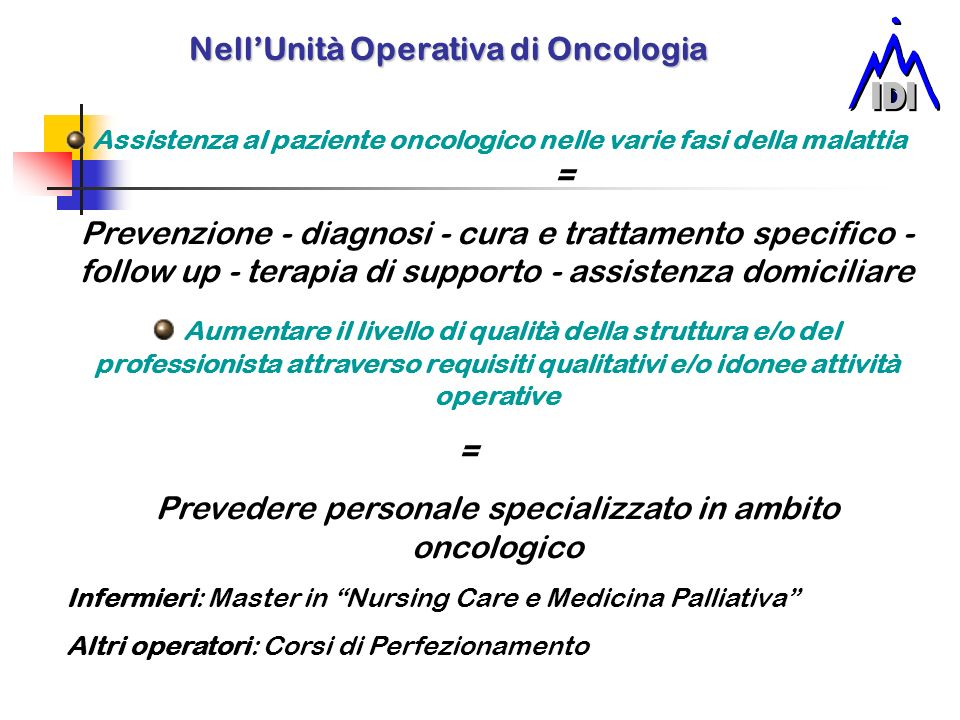 Nell'Unità Operativa di Oncologia