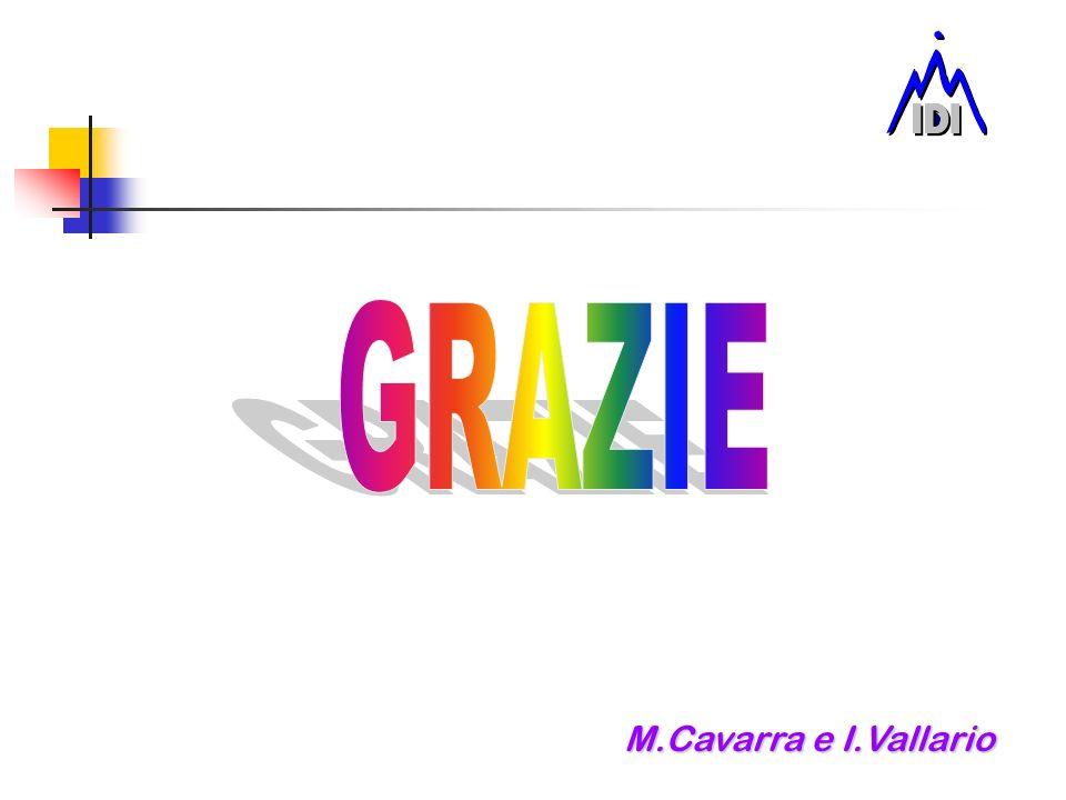 GRAZIE M.Cavarra e I.Vallario