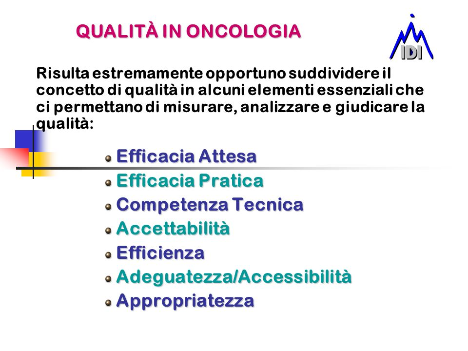 Adeguatezza/Accessibilità Appropriatezza