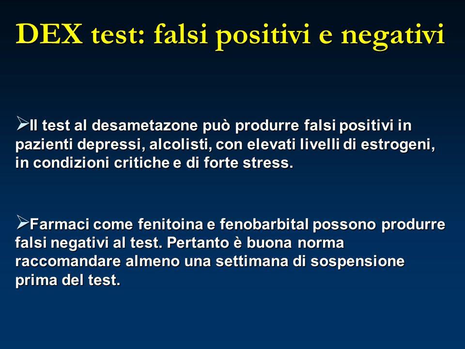 DEX test: falsi positivi e negativi