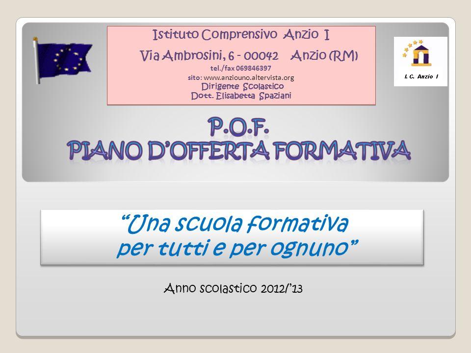 Istituto Comprensivo Anzio I Dott. Elisabetta Spaziani