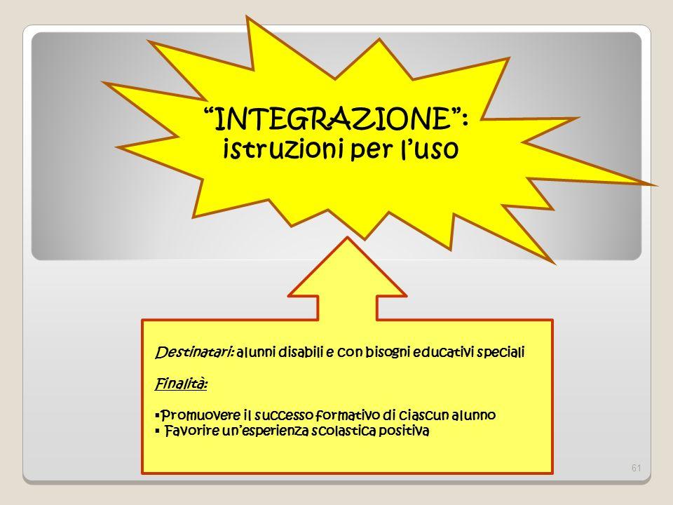 INTEGRAZIONE : istruzioni per l'us0