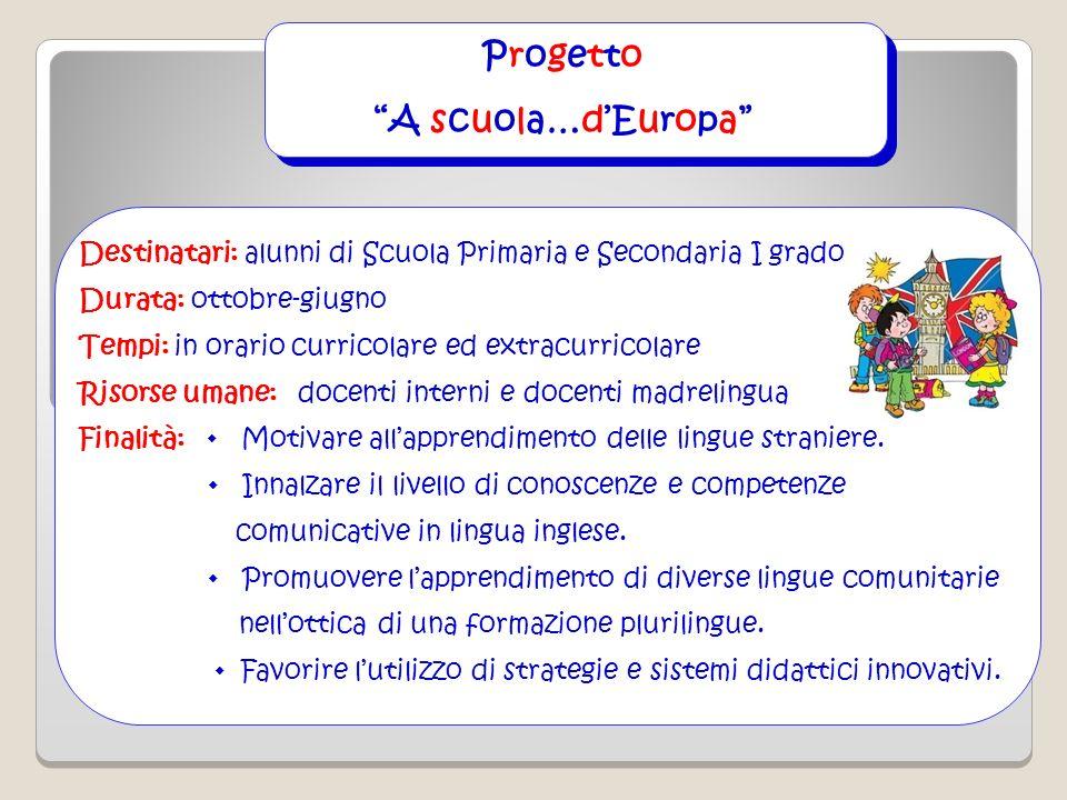 Progetto A scuola…d'Europa