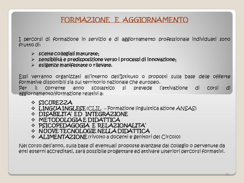 FORMAZIONE E AGGIORNAMENTO