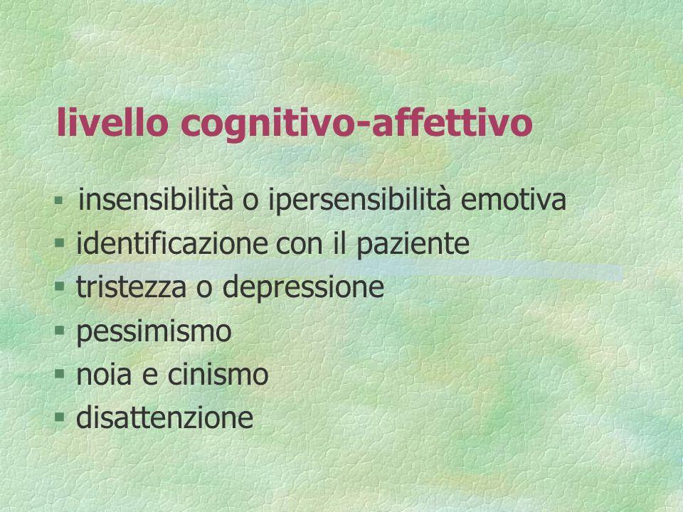 livello cognitivo-affettivo