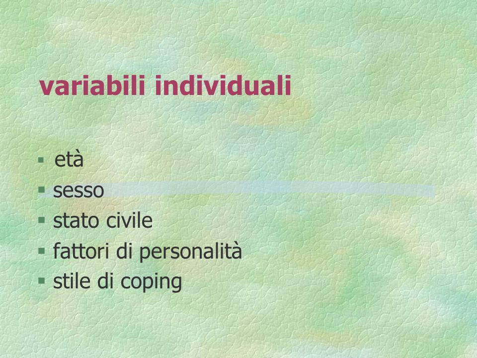 variabili individuali