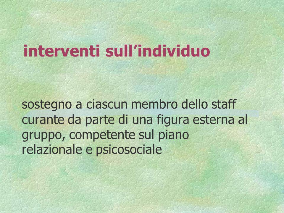 interventi sull'individuo
