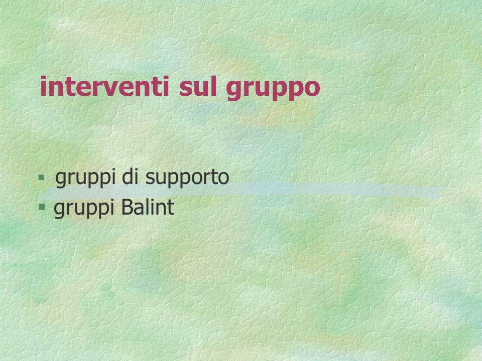 gruppi di supporto gruppi Balint