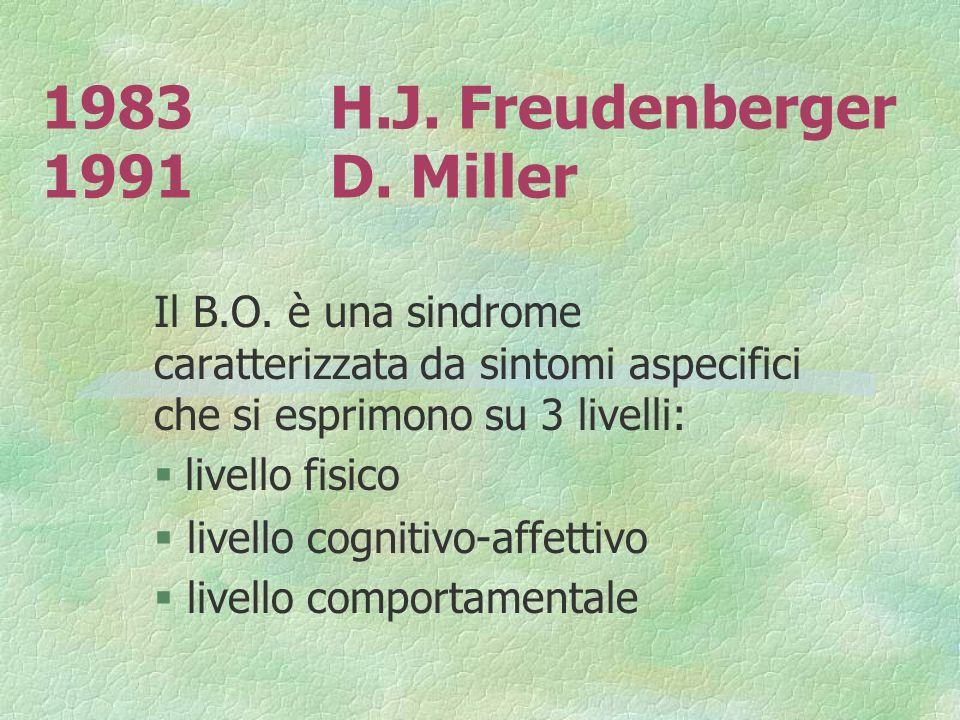 1983 H.J. Freudenberger 1991 D. Miller