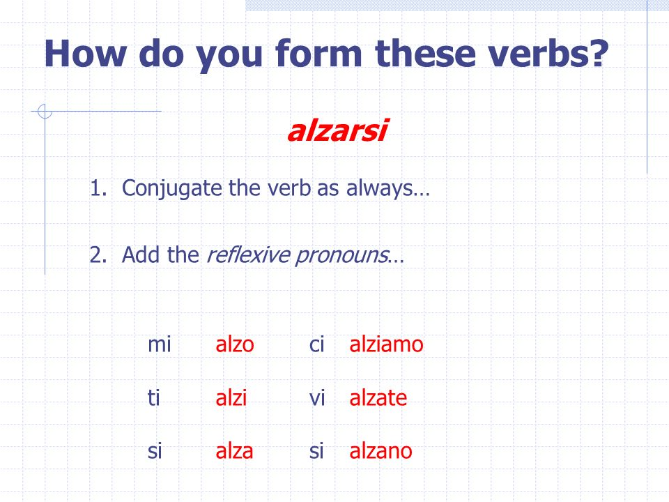 How do you form these verbs
