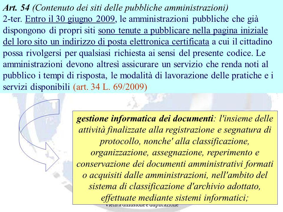 Art. 54 (Contenuto dei siti delle pubbliche amministrazioni) 2-ter
