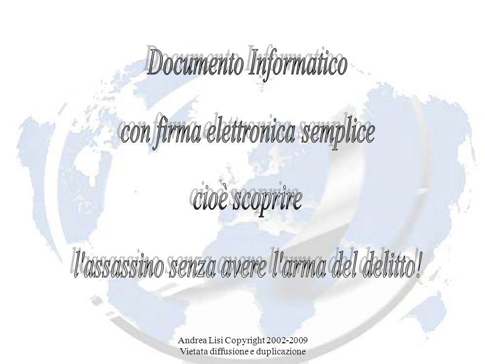 Documento Informatico con firma elettronica semplice cioè scoprire