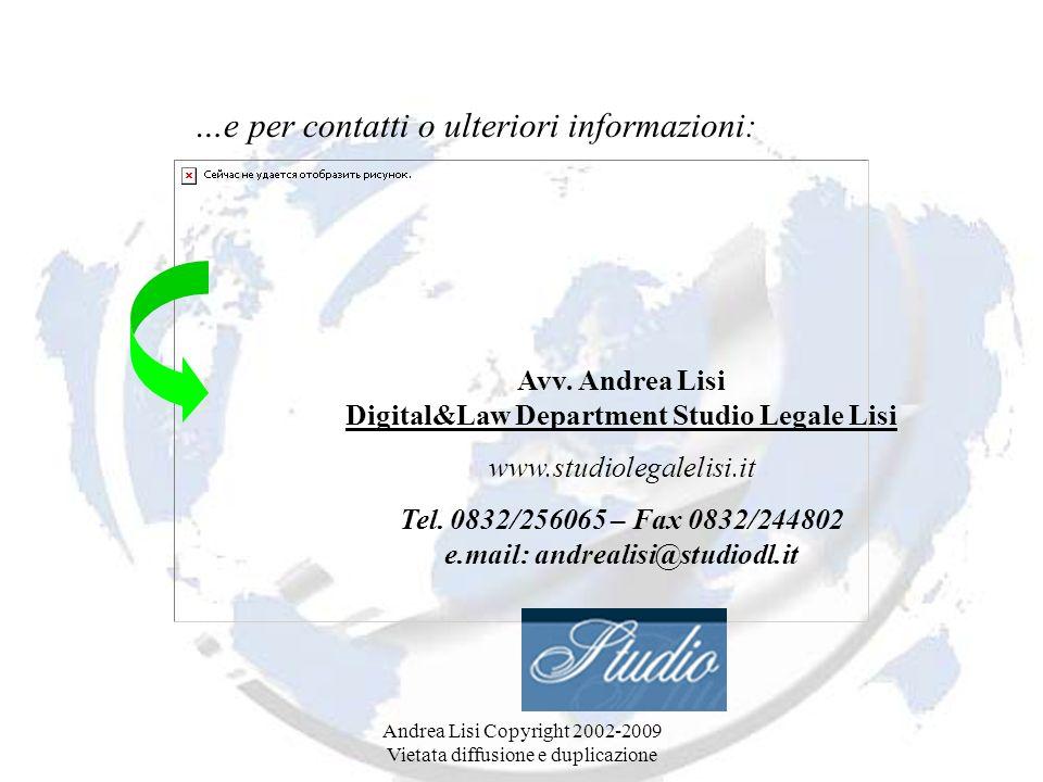 …e per contatti o ulteriori informazioni: