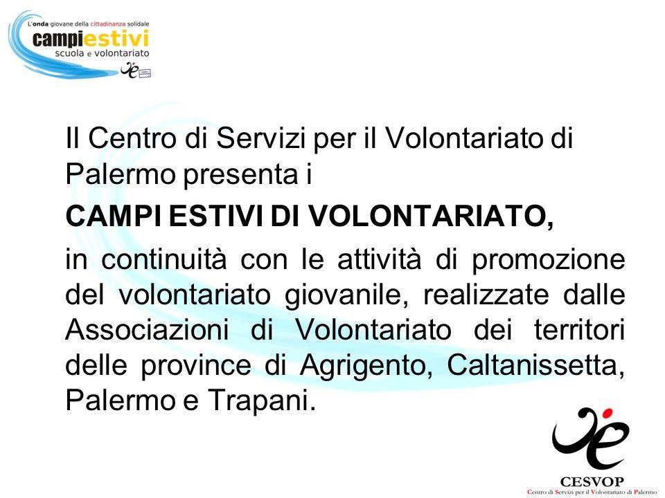 Il Centro di Servizi per il Volontariato di Palermo presenta i