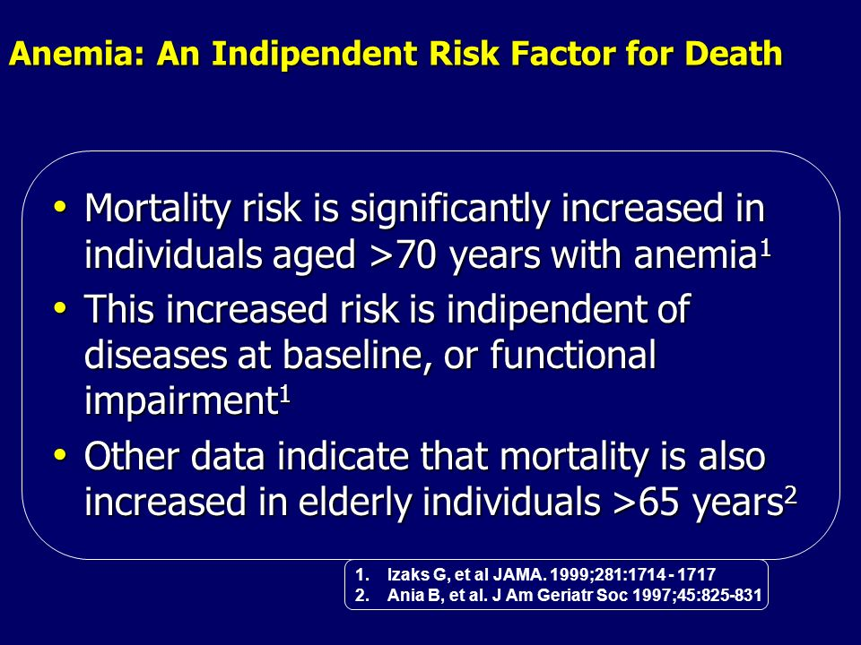 Anemia: An Indipendent Risk Factor for Death