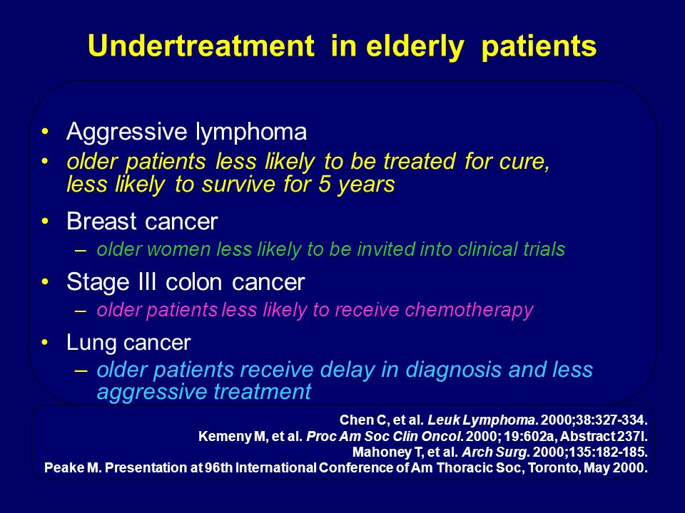 Undertreatment in elderly patients