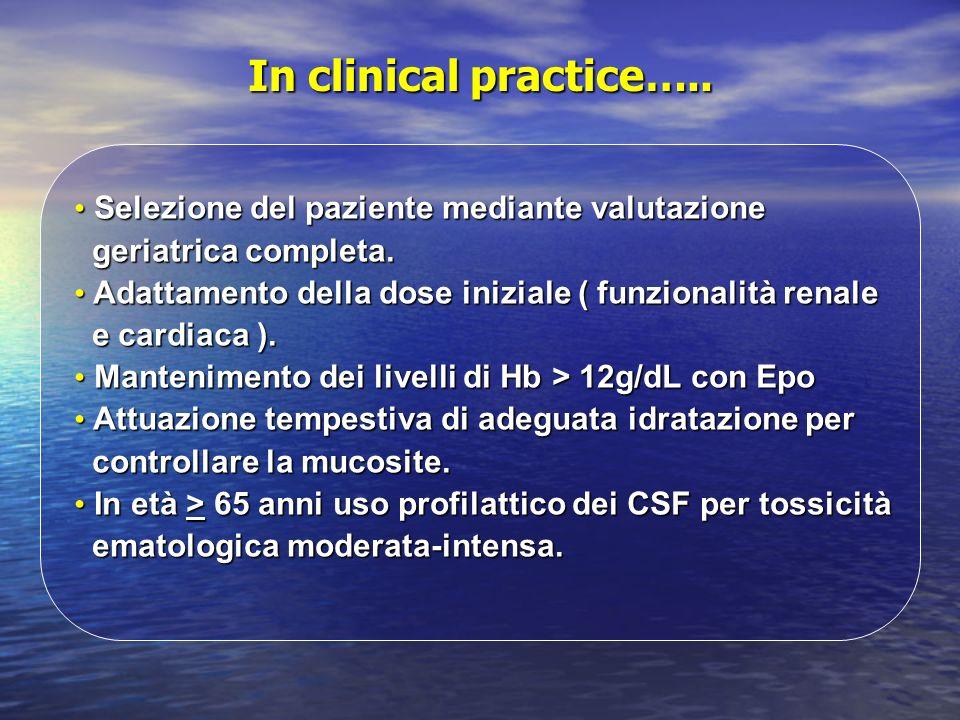 In clinical practice….. Selezione del paziente mediante valutazione