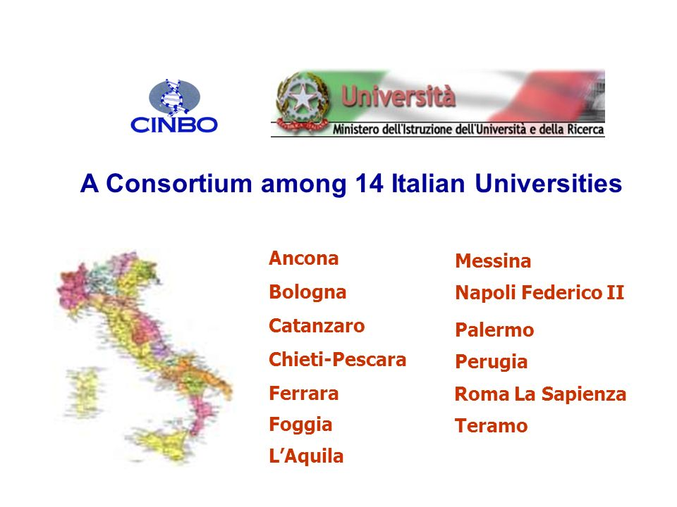 A Consortium among 14 Italian Universities