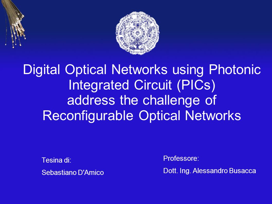Digital Optical Networks using Photonic Integrated Circuit (PICs) address the challenge of Reconfigurable Optical Networks