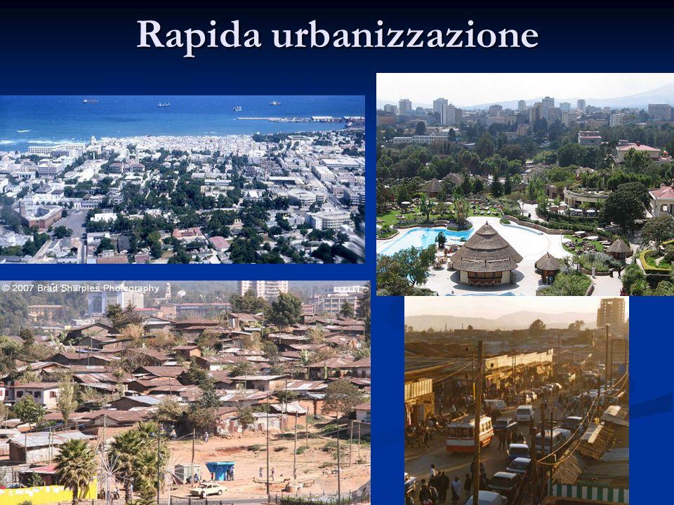 Rapida urbanizzazione