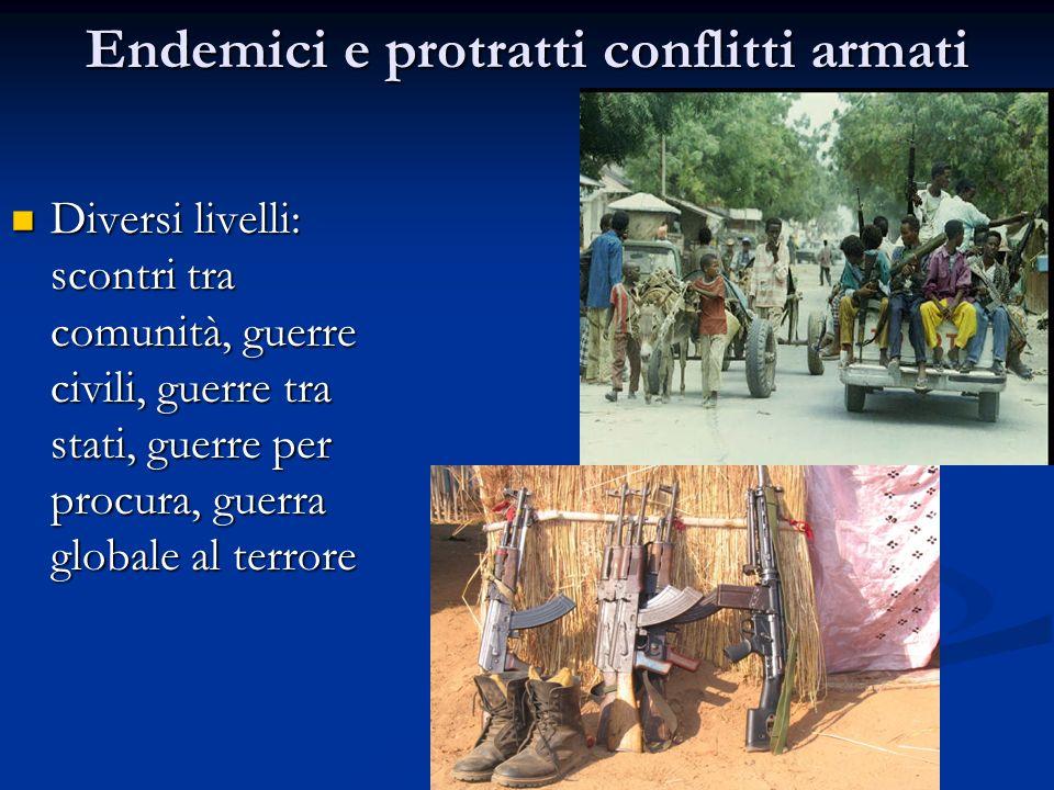 Endemici e protratti conflitti armati
