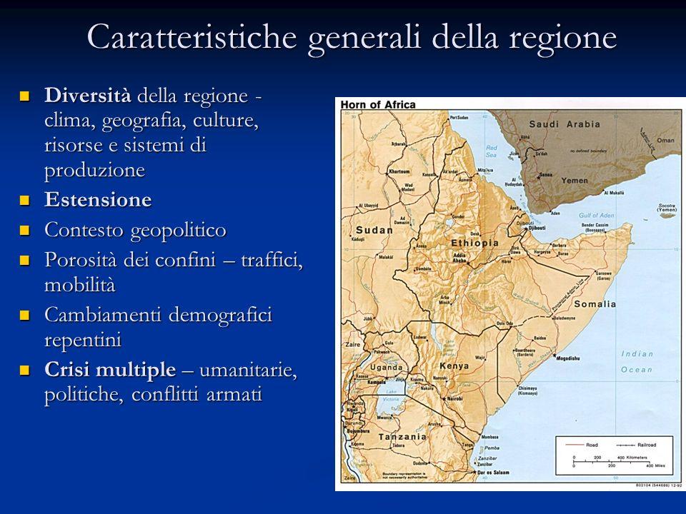 Caratteristiche generali della regione