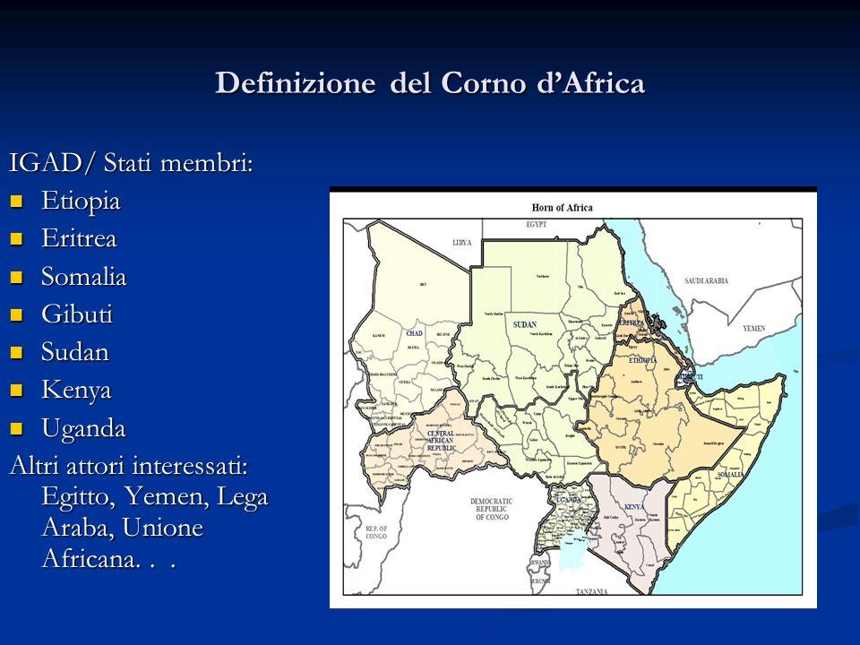 Definizione del Corno d'Africa