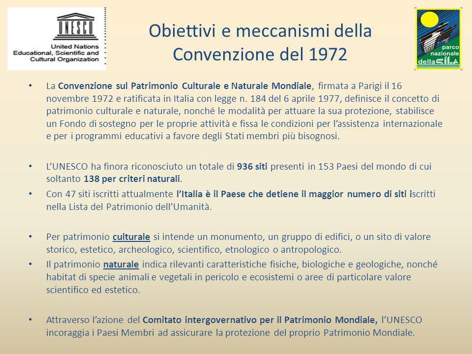 Obiettivi e meccanismi della Convenzione del 1972