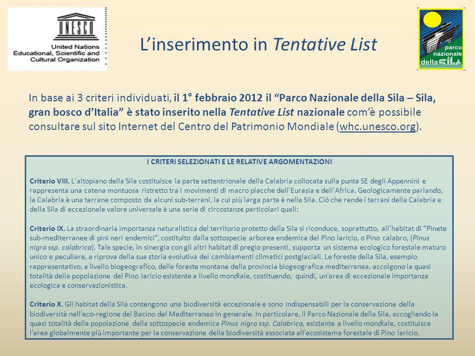 L'inserimento in Tentative List