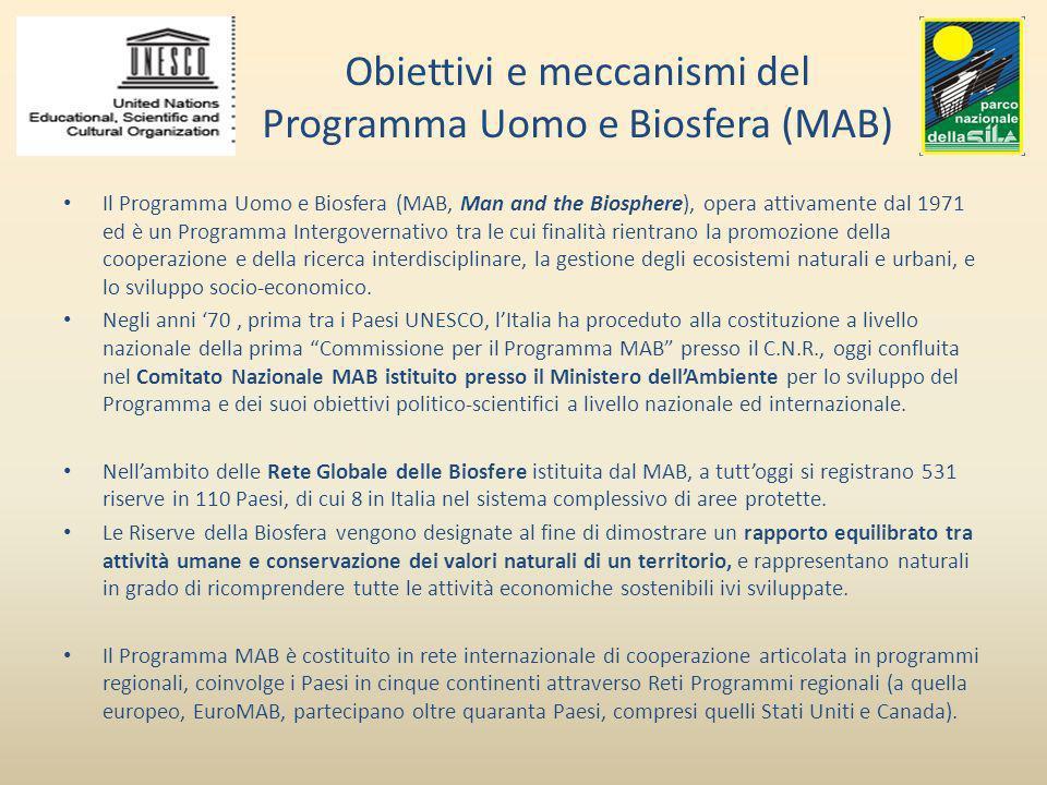 Obiettivi e meccanismi del Programma Uomo e Biosfera (MAB)