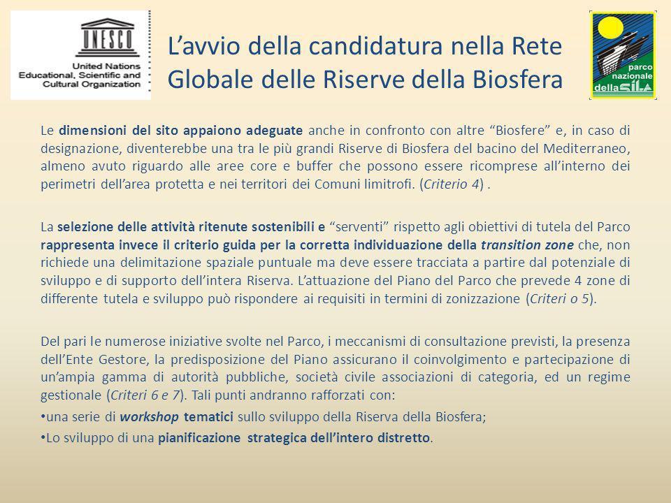 L'avvio della candidatura nella Rete Globale delle Riserve della Biosfera