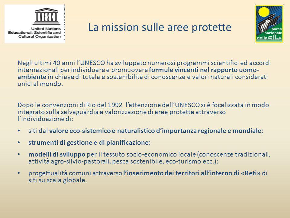 La mission sulle aree protette