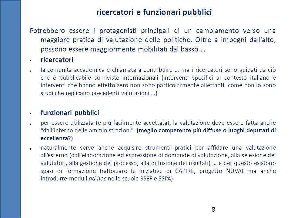 ricercatori e funzionari pubblici