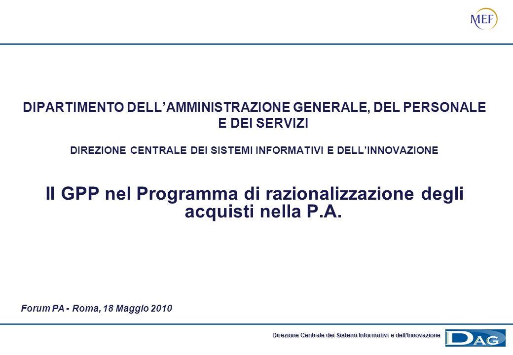 Il GPP nel Programma di razionalizzazione degli acquisti nella P.A.