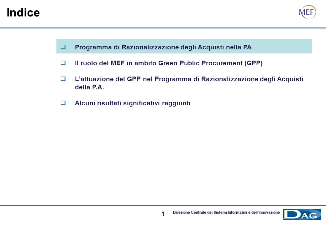 Indice Programma di Razionalizzazione degli Acquisti nella PA