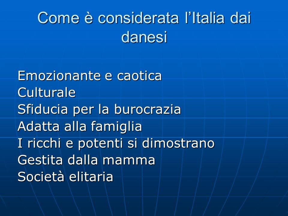 Come è considerata l'Italia dai danesi