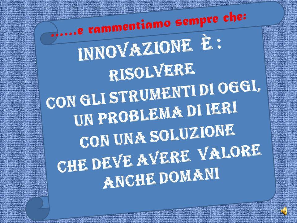 Innovazione è : Risolvere