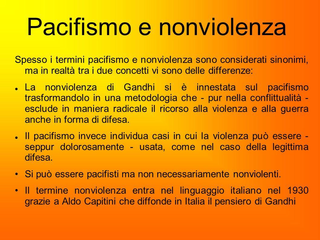 Pacifismo e nonviolenza