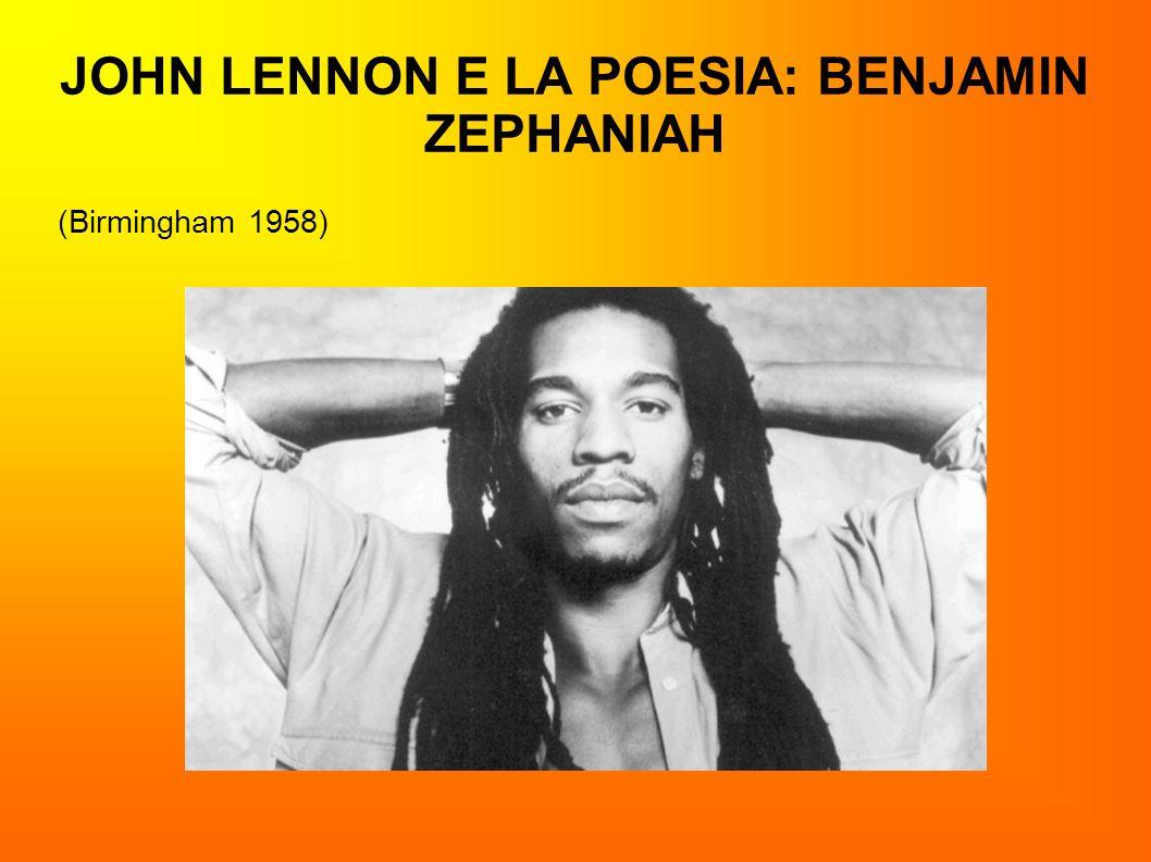 JOHN LENNON E LA POESIA: BENJAMIN ZEPHANIAH