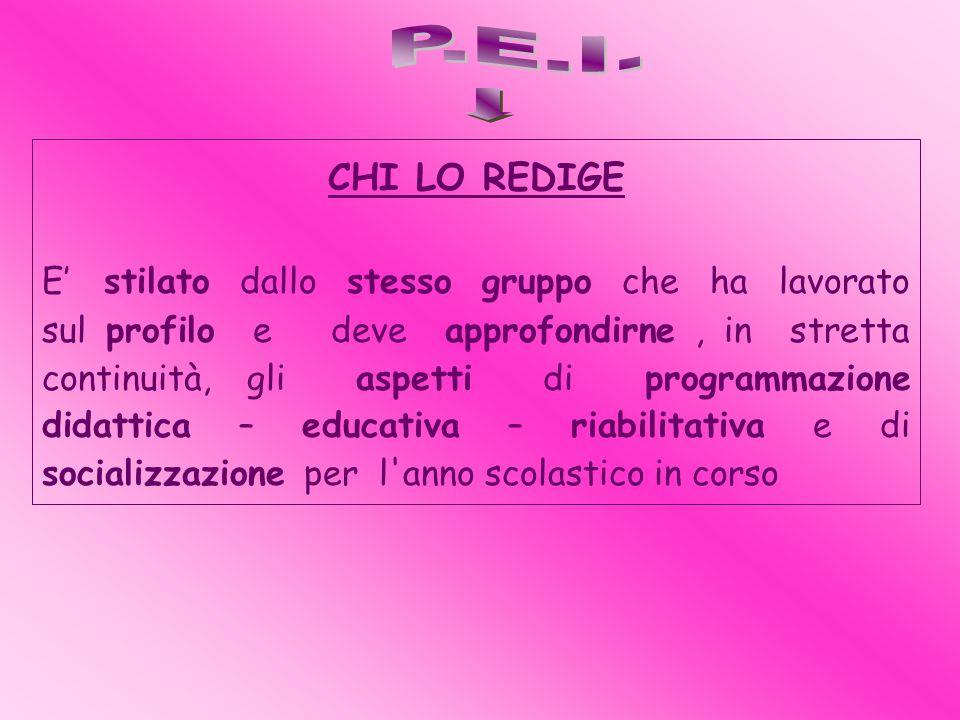 P.E.I. CHI LO REDIGE.