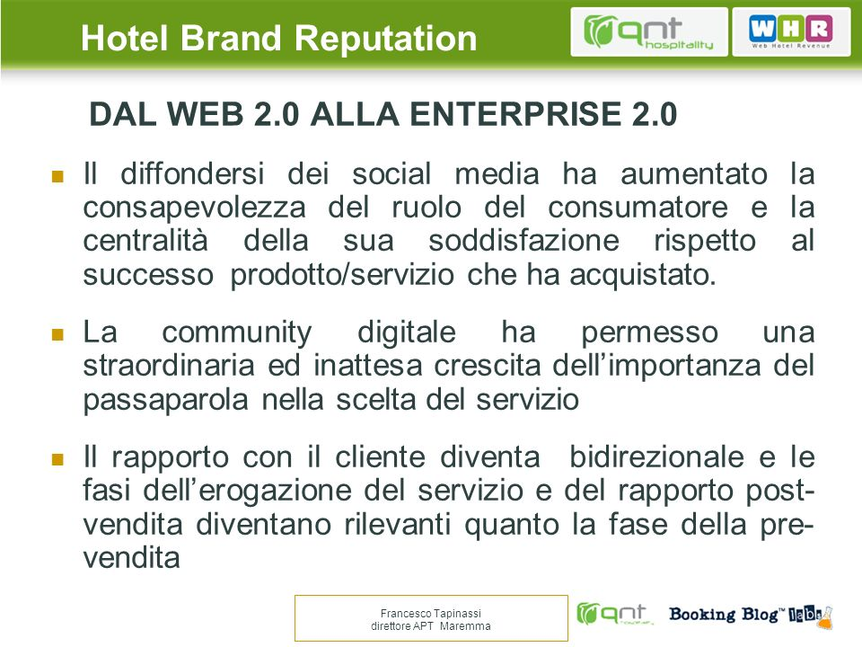 DAL WEB 2.0 ALLA ENTERPRISE 2.0