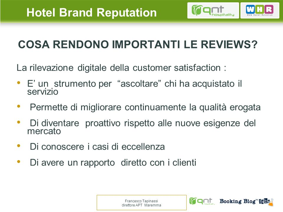 COSA RENDONO IMPORTANTI LE REVIEWS