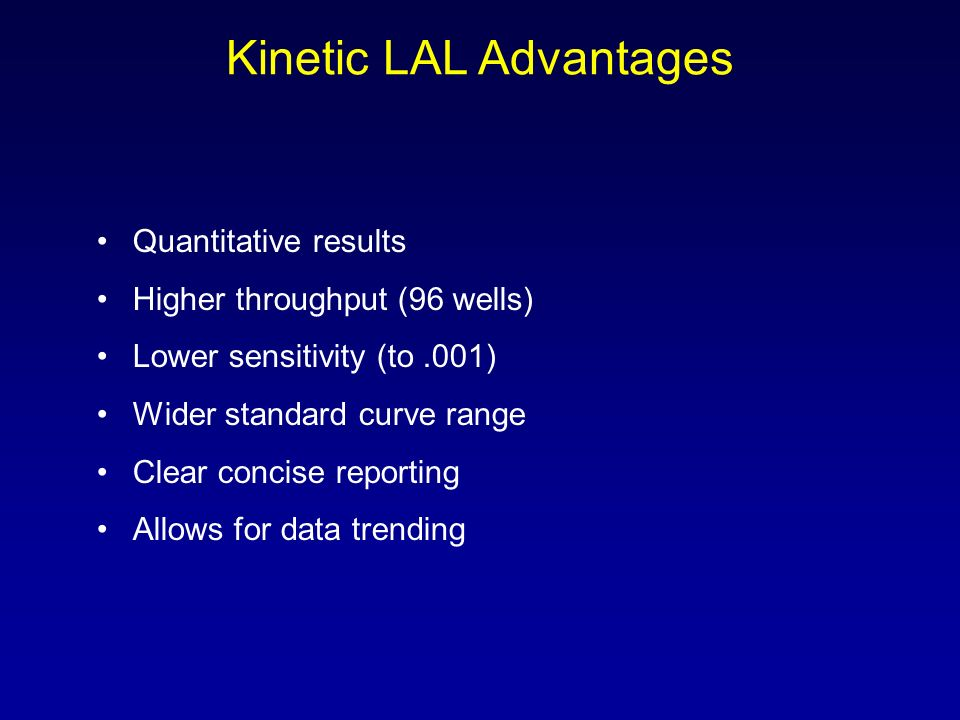 Kinetic LAL Advantages