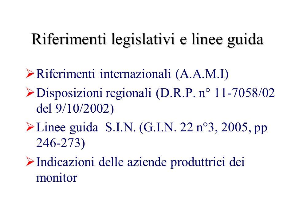 Riferimenti legislativi e linee guida